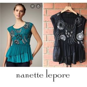 Nanette Lepore | Stellina Beaded Top | Sz 6 | NWT